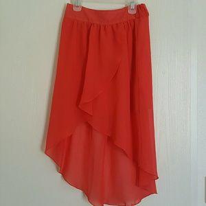 Salmon colored skirt